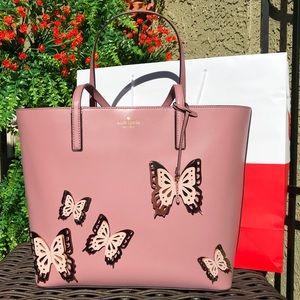 Kate Spade Pink Leather Embellished Tote